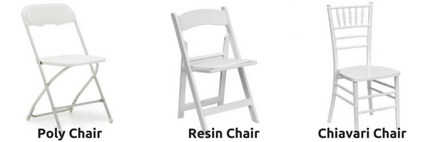 Most Common Types Of Chairs Rented For Events