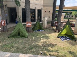 teepee tent decoration