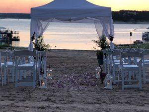 Volente Beach Wedding Sunset