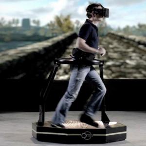 VR on treadmill