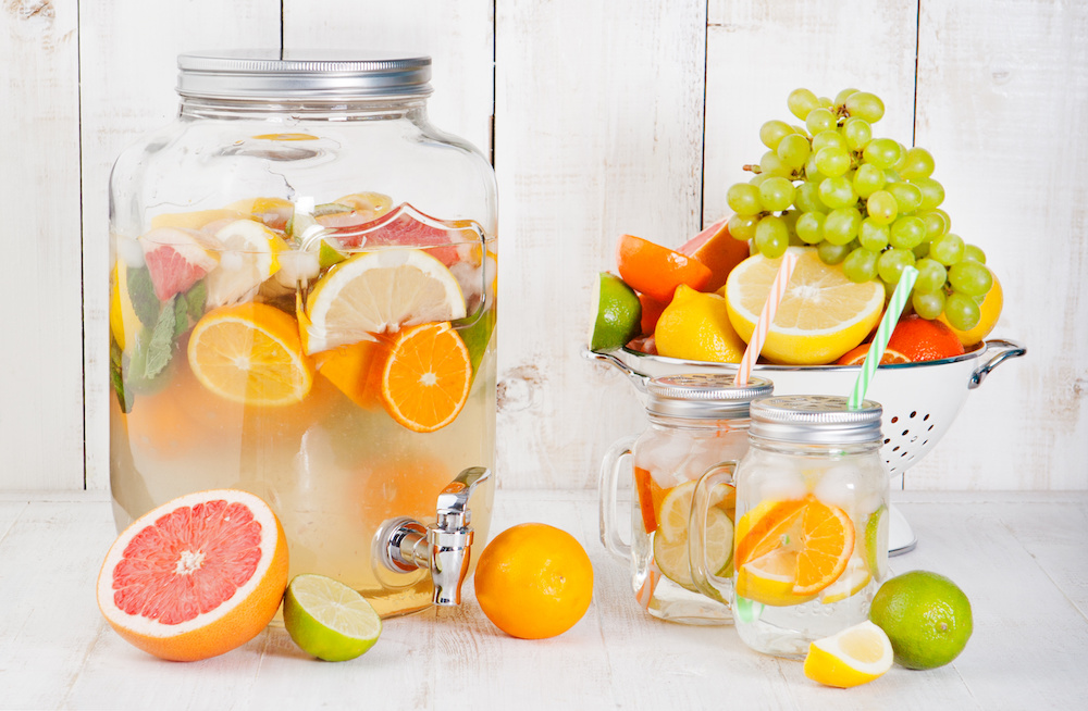 Fruite infused water