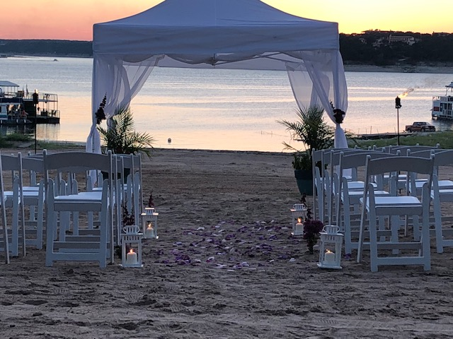 Volente Beach Wedding Sunset