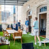 Game rentals on outdoor rooftop patio
