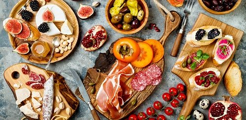 charcuterie board grazing table
