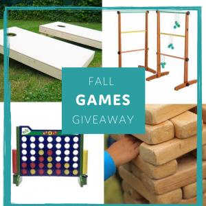 Fall Games Giveaway- Cornhole, Ladder Golf, Connect Four, Jenga