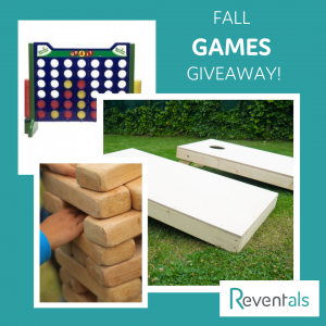 Fall Games Giveaway- Connect Four, Giant Jenga and Cornhole