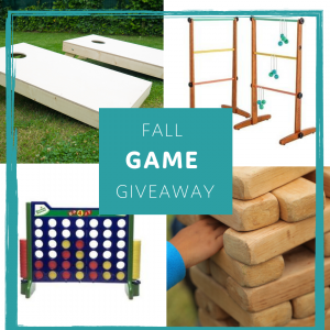 Giant Jenga, Ladder Golf, Corn Hole, Giant Connect Four Games Giveaway