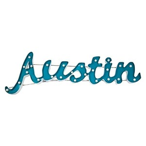 light up Austin sign