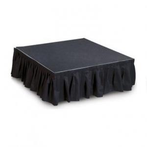 black stage skirting