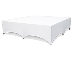 White spandex Stage skirting