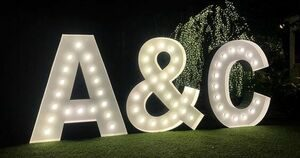 giant lighted marquee letters A & C