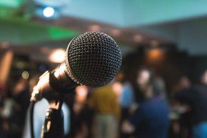 Keynote guest speaker microphone