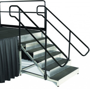 stage stair with handrails