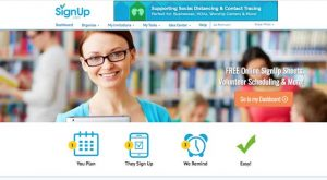 SignUp.com screenshot - volunteer management web application
