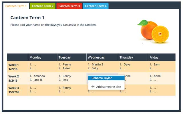 Sign Up Zone screenshot - Free Volunteer Management Web Application